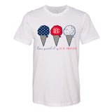 Monogrammed Fourth of July How Sweet It Is To Be American Tee