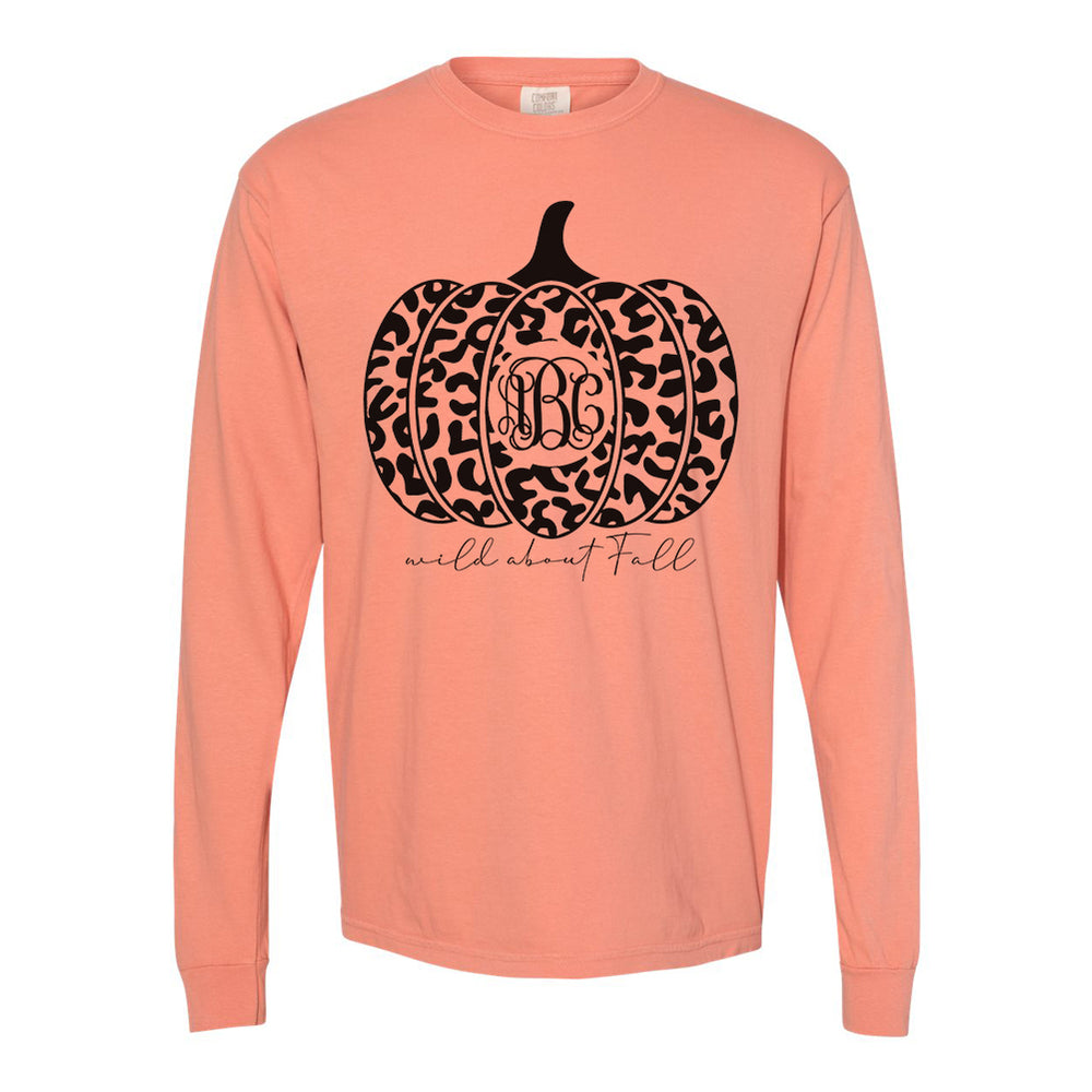 Monogrammed Wild About Fall Leopard Long Sleeve Shirt