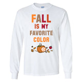 Monogrammed Fall Is My Favorite Color Long Sleeve Shirt
