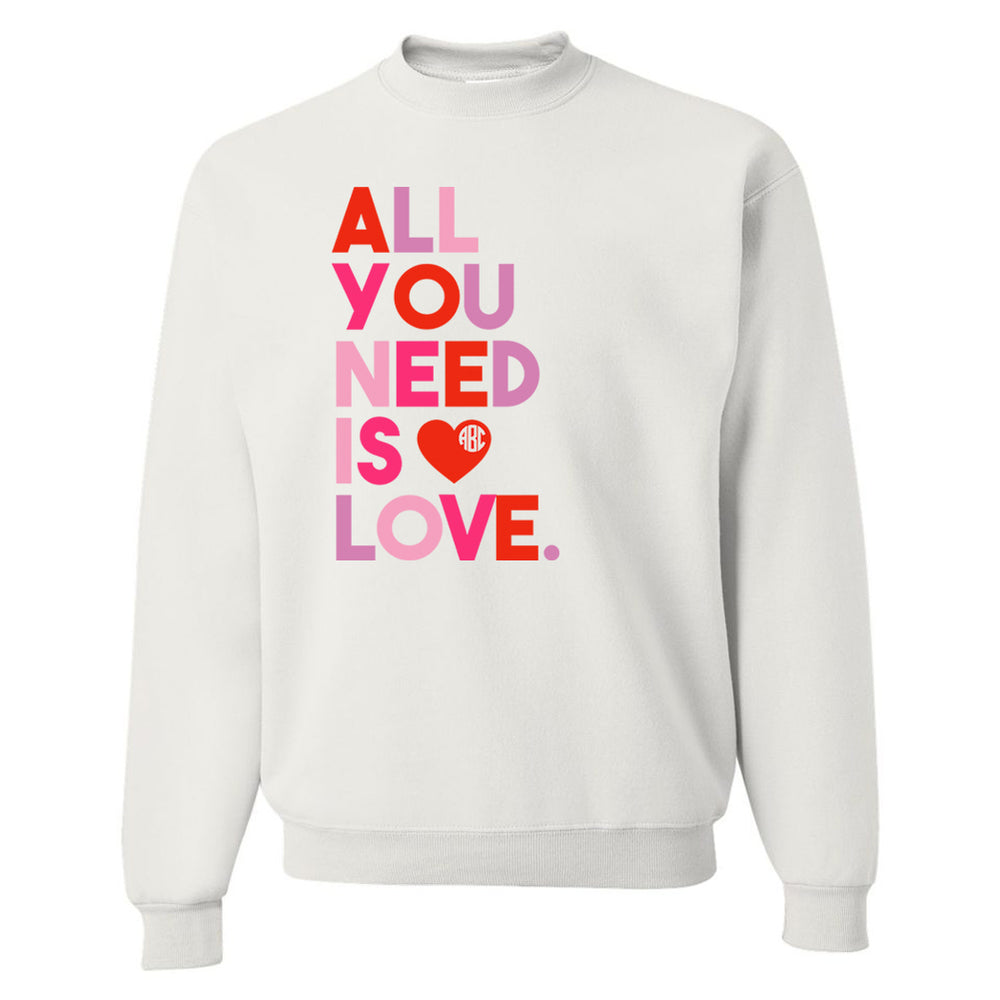 All you need is love monogram top comfy
