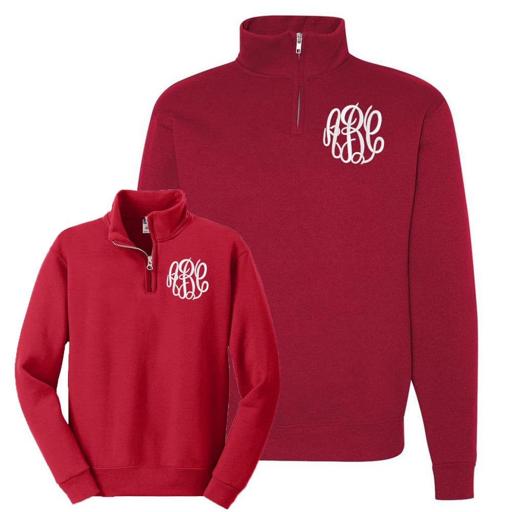 Monogrammed Mommy & Me Package Quarter Zip Sweatshirts