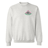 Monogrammed Ash Grey Watermelon Embroidery Crewneck Sweatshirt