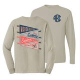 Monogrammed Wanderlust Adventure Front & Back Long Sleeve Shirt