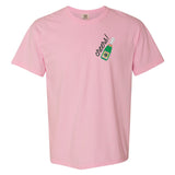 Monogrammed Blossom Comfort Colors Champagne T-Shirt