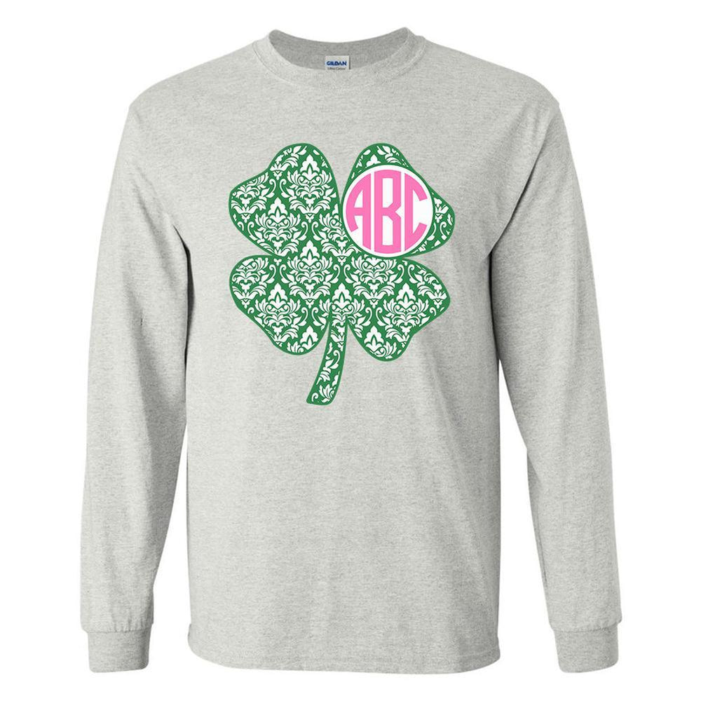 Shamrock Monogram Ash Long Sleeve