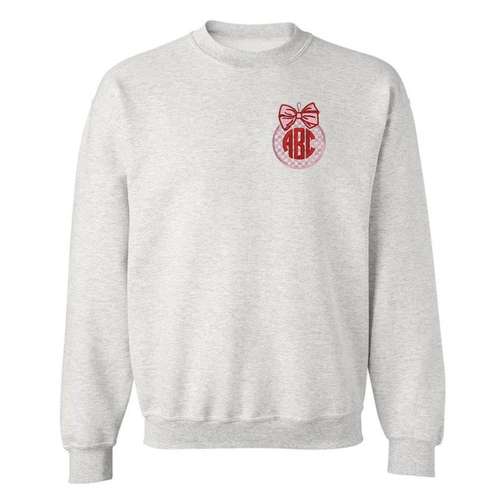 Monogrammed Christmas Ornament Embroidery Sweatshirt