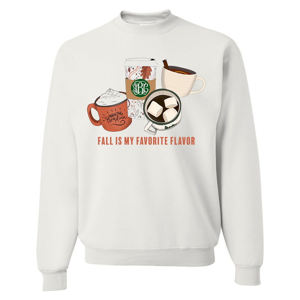 Monogrammed Fall Is My Favorite Flavor Coffee Sweatshirt