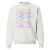 Monogrammed Retro Coffee Crewneck Sweatshirt