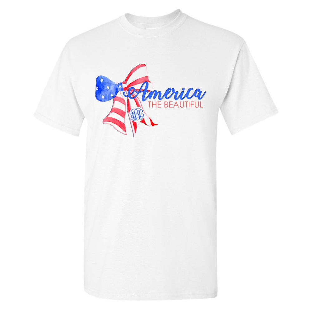 Monogrammed America The Beautiful T-Shirt Fourth of July