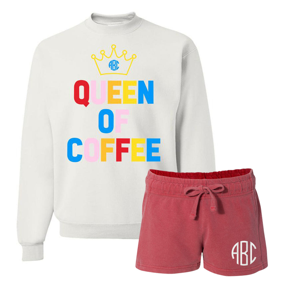 Monogrammed Queen Of Coffee Lounge Set