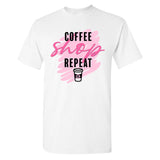 Monogrammed Black Friday Coffee Shop Repeat T-Shirt