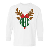 Monogrammed Reindeer Long Sleeve Shirt Kids Toddler