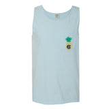 Monogrammed Pineapple Comfort Colors Pocket Tank Top