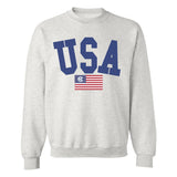 Monogrammed USA Classic Crewneck Sweatshirt Fourth of July
