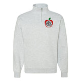 Monogrammed Apple Teacher Quarter Zip Sweatshirt