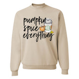 Monogrammed 'Pumpkin Spice Everything' Crewneck Sweatshirt