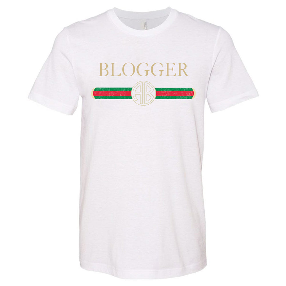 Monogrammed Gucci Inspired Blogger Tee