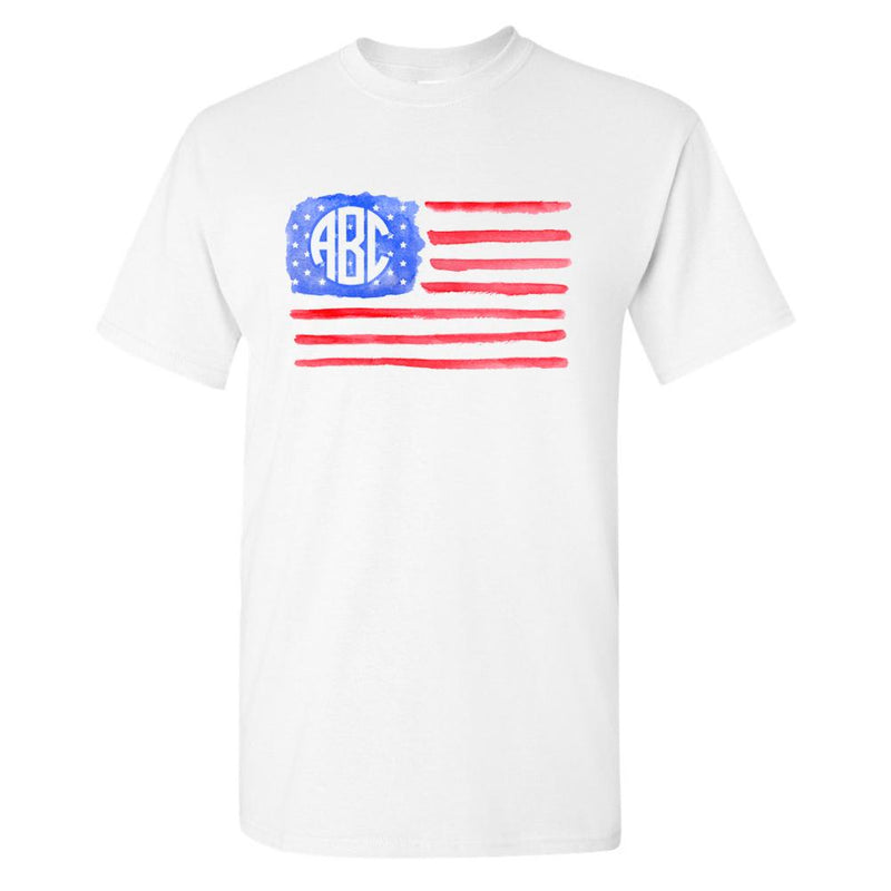 f743cd202dfd5c Monogrammed  Watercolor American Flag  T-Shirt. From   24.95. Monogrammed  American Flag Muscle Tank Fourth of July