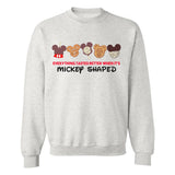 Monogrammed Everything Tastes Better When It's Mickey Shaped Crewneck Sweatshirt