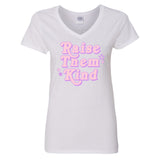 Monogrammed Raise Them Kind V-Neck T-Shirt