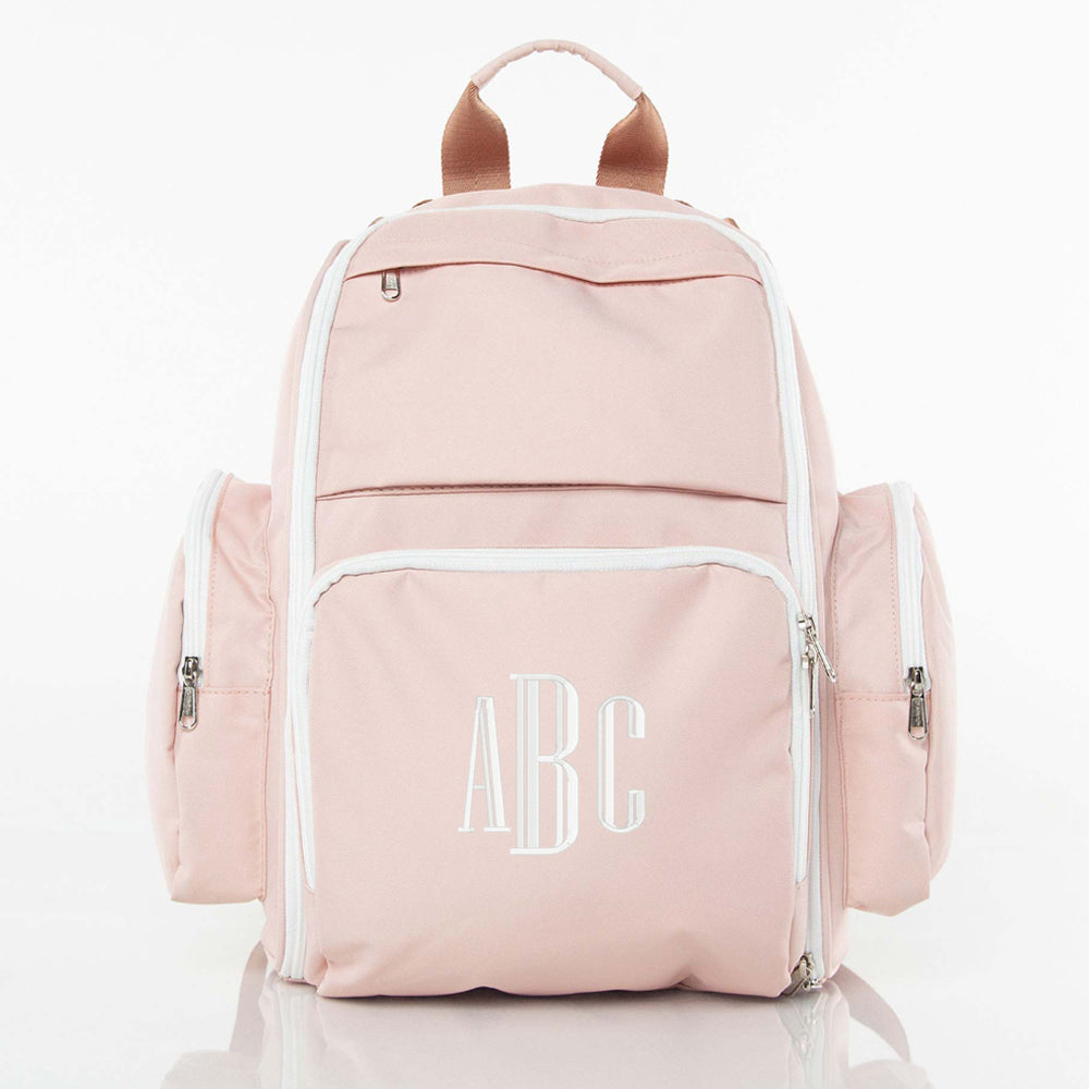 Monogrammed Backpack Diaper Bag