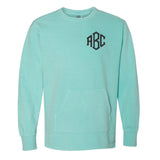 Monogrammed Comfort Colors Crewneck Sweatshirt with Pockets