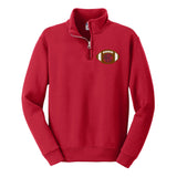 Monogrammed Kids Youth Football Quarter Zip Sweatshirt