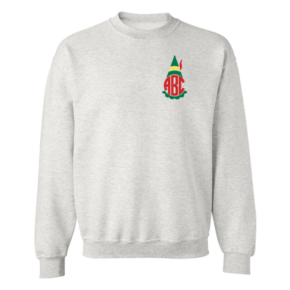 Monogrammed Christmas Elf Movie Crewneck Sweatshirt