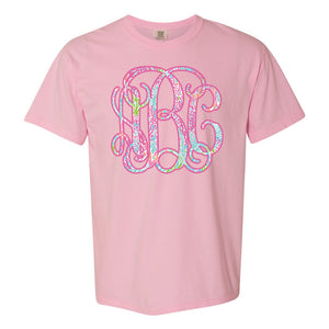 Monogrammed Lilly Pulitzer Tee Comfort Colors