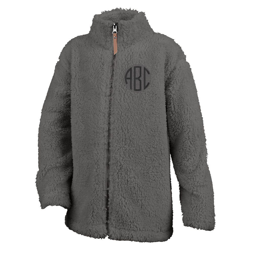 Kids Youth Monogrammed Full Zip Newport Fleece Sherpa