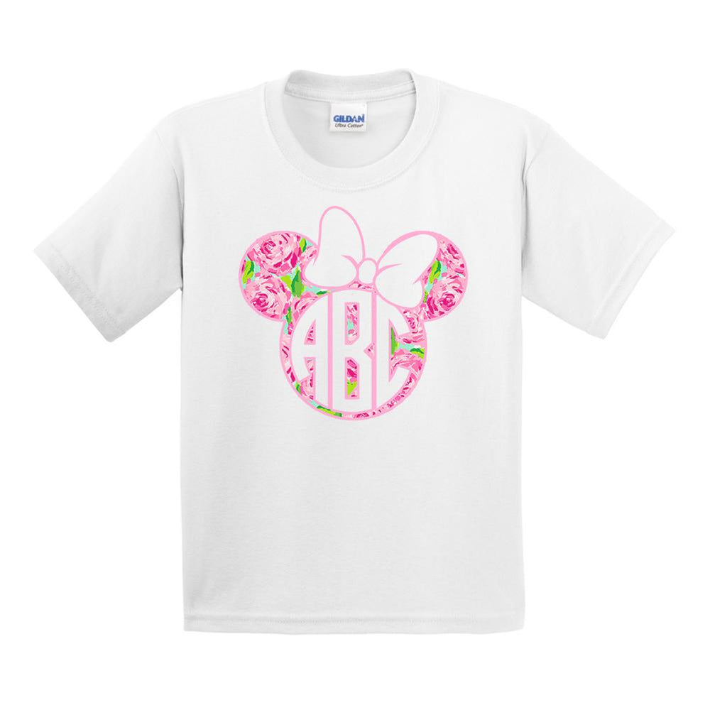 Kids Monogrammed Lilly Minnie Mouse Disney T-Shirt Youth Sizes