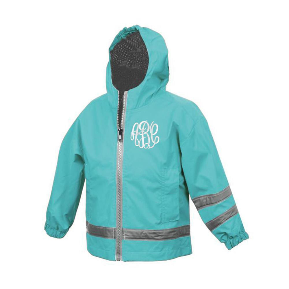 Toddler Monogrammed Rain Jacket