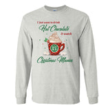 Monogrammed 'Drink Hot Chocolate' Long Sleeve T-Shirt