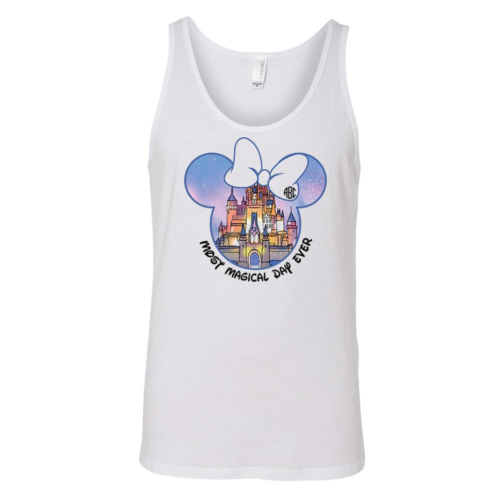 Monogrammed Disney Castle Magic Kingdom Most Magical Day Ever Tank Top