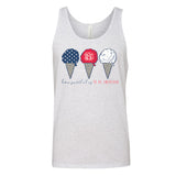 Monogrammed Fourth of July How Sweet It Is To Be American Tank Top