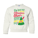 Monogrammed Elf Movie Kids Youth Crewneck Sweatshirt