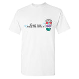 Monogrammed Little Mermaid I Want To Be Where The Coffee Is T-Shirt
