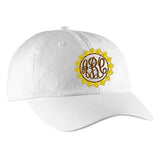 Monogrammed Sunflower Baseball Hat