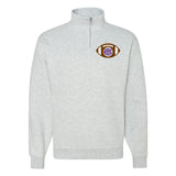 Monogrammed Football Quarter Zip Sweatshirt