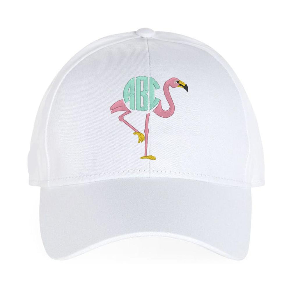 Monogrammed Flamingo Hat