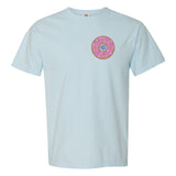 Fun Foodie Monogram on Comfort Colors LIght Blue Tee