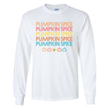 Monogrammed Retro Pumpkin Spice Long Sleeve Shirt