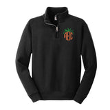 Kids Monogrammed Pumpkin Quarter Zip Sweatshirt