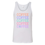Monogrammed Retro Coffee Tank Top