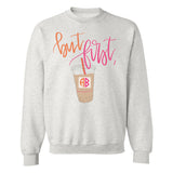 Ash Coffee Sweatshirt with 2 letter initials