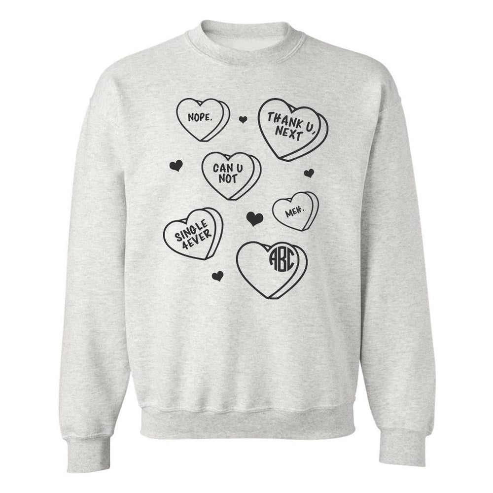 Monogrammed Single Anti-Valentine's Day Sweatshirt