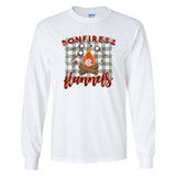 Monogrammed Bonfires & Flannels Long Sleeve Shirt