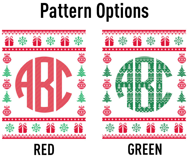 Monogrammed 'Christmas Sweater' Crewneck Sweatshirt