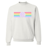 Monogrammed Rainbow Striped Crewneck Sweatshirt