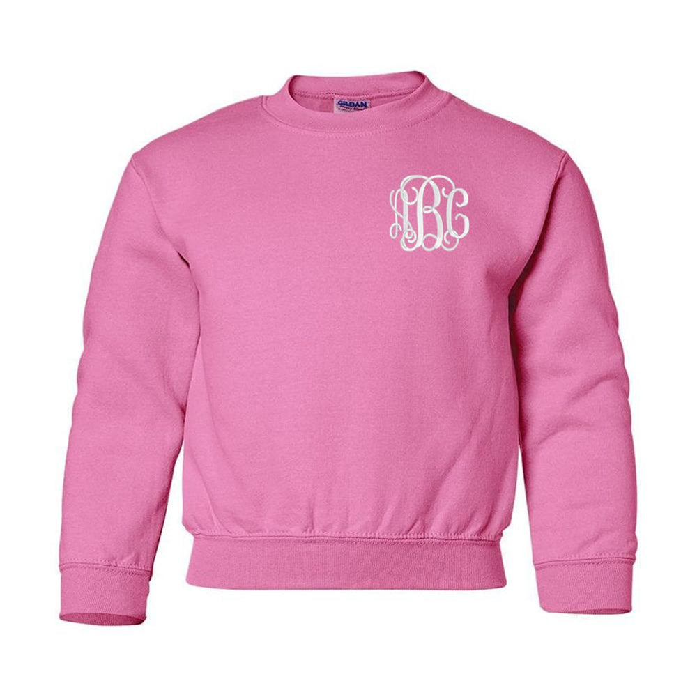 Kids Monogrammed Crewneck Sweatshirt Youth Sizes